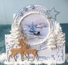 3d Cards, Christmas Cards, Craft Cards, Paper Clip Art, Marianne Design Cards, Winter Christmas, Holiday, 3d Paper Crafts, Flower Cards