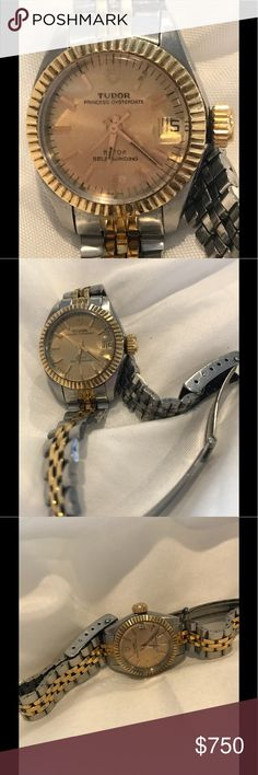 Tudor Watch by Rolex Ladies Tudor watch by Rolex. Oyster movement. Model 92413 18kt gold and stainless with date. Tudor Other