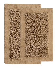 2 Piece Cotton and Chenille Tufted Bath Rug Set