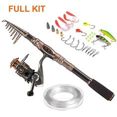 PLUSINNO Spin Spinning Rod and Reel Combos Carbon Telescopic Fishing Rod with Reel Combo Sea Saltwater Freshwater Kit Fishing Rod Kit http://ift.tt/2k2dxZh