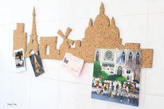 DIY ta skyline en liège : Paris, New York, Londres...