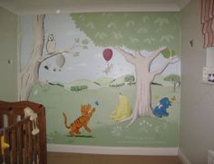 1000 images about babies and nurseries on pinterest for Classic pooh wall mural