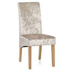 Beige velvet and a scroll top backrest, combined with oak finished legs. The Claremont Dining Chair Beige Velvet brings simple luxury to any dining table. Dining Room Chairs, Dining Table, Dining Area, Traditional Chairs, Light Oak, Chair Design, Wooden Frames, Accent Chairs, Beige