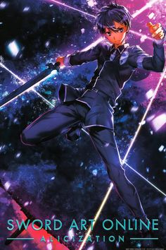 Sword Art Online Poster, Sword Art Online Wallpaper, Kirito Kirigaya, Kirito Asuna, Sao Anime, Anime Manga, Espada Anime, Anime Character Names, Gun Gale Online