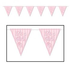 Beistle Company // It's a Girl Pennant Banner | 12ft - $2.95