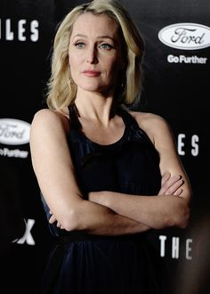 stellagbson: Gillian Anderson at the LA Premiere of The X-Files Revival on 1/12/16