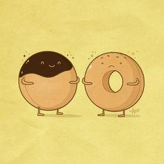 Incomplete by NaBHaN.deviantart.com on @deviantART  Poor Doughnut...