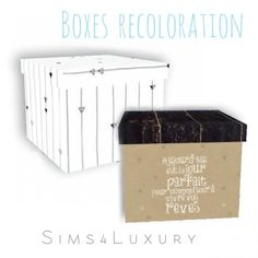 Sims4Luxury: Boxes recoloration • Sims 4 Downloads