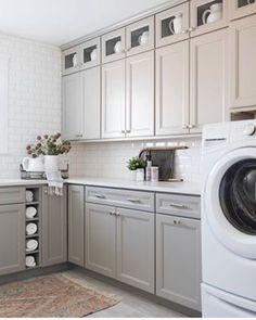 """Awesome """"laundry room storage diy cabinets"""" detail is offered on our web pages. Read more and you will not be sorry you did. Laundry Room Cabinets, Laundry Room Storage, New Kitchen Cabinets, Grey Cabinets, Painting Kitchen Cabinets, Shaker Cabinets, Grey Laundry Rooms, Laundry Room Signs, Cabinet Paint Colors"""
