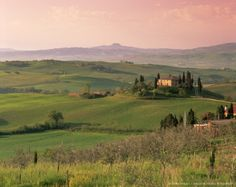 Landscape near San Quirico d'Orcia, Tuscany, Italy, Europe