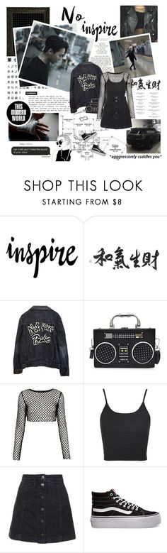 """""""I wish I could meet you in my dreams ... ♪"""" by followmiiin ❤ liked on Polyvore featuring CO, WALL, High Heels Suicide, Motel, Topshop and Vans"""