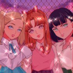 Arte Do Kawaii, Kawaii Art, Girl Cartoon, Cartoon Art, Cartoon Drawings, Powerpuff Girls Wallpaper, 90 Anime, Anime Art Girl, Cute Drawings