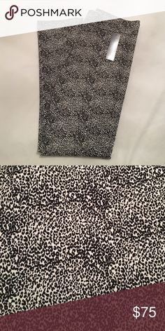 NWT Margaret M pants Slimming pants in black and white cheetah print. I love these pants they are just too big on me margaret m Pants