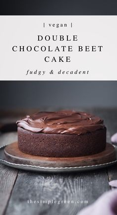This noteworthy vegan double chocolate beetroot cake is beyond good; it's sure to surprise unsuspecting palates. Topped with a simple dairy-free ganache. Easy Vanilla Cake Recipe, Easy Cake Recipes, Baking Recipes, Dessert Recipes, Chef Recipes, Sweet Recipes, Vegan Recipes, Beetroot Chocolate Cake, Healthy Chocolate