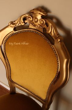Baroque Accent Chair with metallic finish