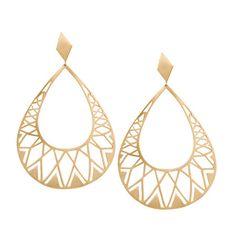 DEBORAH PAGANI  18K yellow Gold Patra Earrings