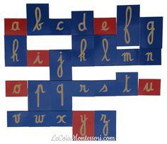 DIY : fabrication lettres rugueuses avec le gabarit des lettres OK