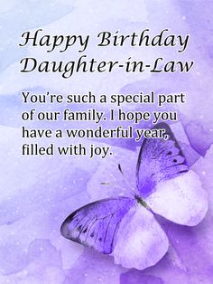 Happy Birthday Daughter In Law Free Birthday Cards