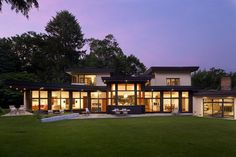 OMA together with A+SL Studios have completed an addition to a residence in Brookline, Massachusetts. #modern #home