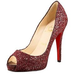 Christian Louboutin Very Prive Pumps in Black Glitter