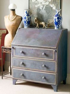 Annie Sloan Chalk Paint  #Secretary #Furniture