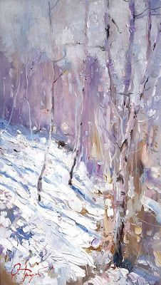 Winter Painting by Oleg Trofimoff, Russin Artist ~ Blog of an Art Admirer