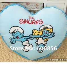 Cushion Hold pillow smurfs toys for christmas gifts high quality suqare and heart plush toys 2pc/set free shipping s254-in Stuffed & Plush Animals from Toys & Hobbies on Aliexpress.com