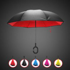 eed946a7f KCASA UB-1 Creative Reverse Double Layer Umbrella Folding Inverted Windproof  Car Standing Rain Protection