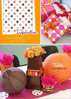 Hot Pink and Orange Baby Shower - Design Dazzle