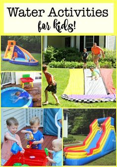 We think that outdoor water play is an essential part of our DIY summer camp! Here are some of our favorite water activities for kids! Activities For Boys, Water Activities, Summer Activities, Preschool Activities, Summer Diy, Summer Ideas, Summer Crafts, Kids Crafts, Easy Adventure