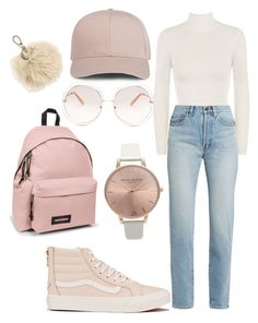 """""""Untitled #14"""" by cmontaner on Polyvore featuring WearAll, Vans, Olivia Burton, Yves Saint Laurent, Chloé, Eastpak and Furla"""