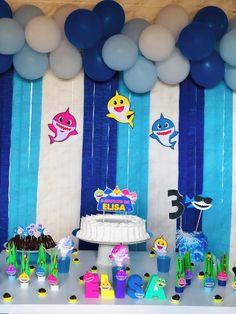 Baby Birthday Themes, Safari Birthday Party, Birthday Photos, 2nd Birthday, Birthday Parties, 2 Baby, Shark Party, Baby Milestones, Baby Shark