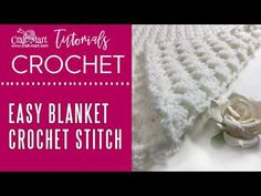 If you are looking for an easy crochet baby blanket, give this pattern a try. Its amazing texture is created using only basic crochet stitches.