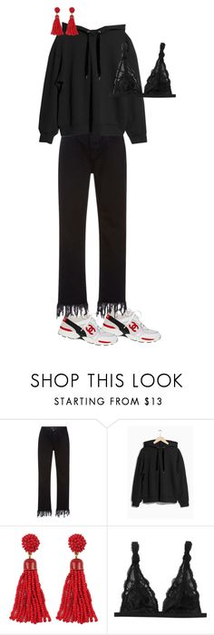 """""""Basic days..."""" by frederikkematilder ❤ liked on Polyvore featuring 3x1 and Monki"""