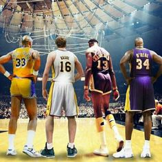 4 Laker Centers with Rings Basketball Is Life, Basketball Legends, Sports Basketball, College Basketball, Basketball Players, Basketball History, Basketball Stuff, James Worthy, Kareem Abdul Jabbar