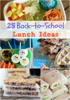 25 Back To School Lunch Ideas. A round-up of 25 lunch ideas from bento box lunches to homemade snacks.