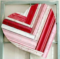Repurposed Crown Molding Heart Decor | AllFreeHolidayCrafts.com