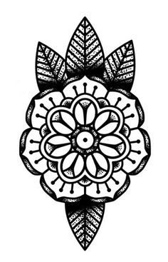 simple mandala tattoo design - Google Search