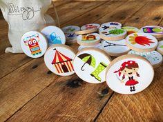 Story Starter Set Story Stones Wooden Disc Game Montessori