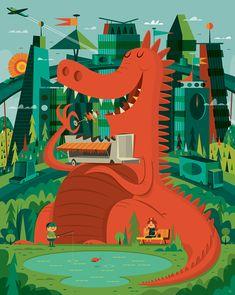 """Ilustrações Fantásticas da """"Invisible Creature""""   Des1gn ON - Blog de Design e Inspiração."""