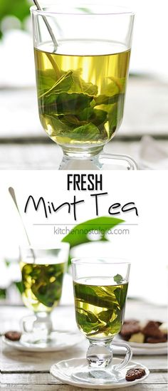 Fresh Mint Tea - refreshing hot or cold drink to sooth your mood as well as your stomach! It will help you reduce stress, focus your mind and eliminate appetite.