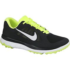 3e07314b81b2f Shop for Nike Men s FI Impact Black  Volt  White Golf Shoes. Get free  delivery at Overstock - Your Online Golf Equipment Destination!