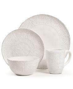 Maison Versailles Dinnerware, Blanc Colette 4 Piece Place Setting - Casual Dinnerware - Dining & Entertaining - Macy's
