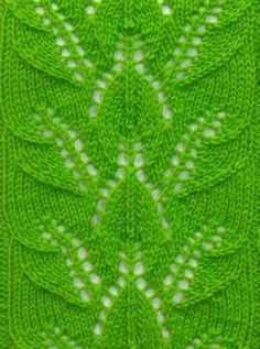 Leaf Knit Stitch Pattern