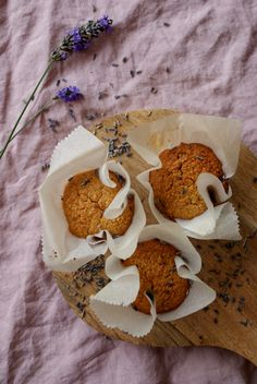 Lavender muffins