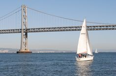 Sailboat on San Francisco Bay.