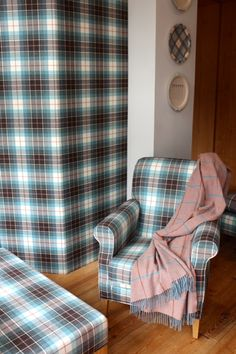 ANTA Scottish Tweeds Edinburgh, Shortbread, Wingback Chair, Accent Chairs, Blanket, Bed, Furniture, Home Decor, Shopping