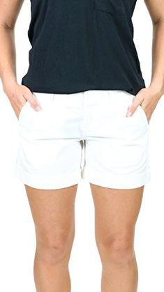 DEAR JOHN White Hampton Comfort Short 25 -- Details can be found by clicking on the image. (This is an affiliate link) Spring Shorts, Casual Shorts, Women's Shorts, Dear John, Short Outfits, The Hamptons, White Shorts, Clothes For Women, Image Link