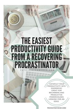 The easiest, fastest guide to boost your productivity to reach your goals, told by a recovering procrastinator. Productivity is difficult especially when you're not able to plug it into your daily life. Here, we'll go over ways to boost your productivity immediately and have your goals reached in no time!