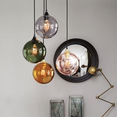 40 glass ball lamps for every interior design - Lampen - Glasses House Design Photos, Cool House Designs, Modern House Design, Lampe Rose, Sweet Home, Suspension Design, Luminaire Design, Apartment Design, Home Interior Design